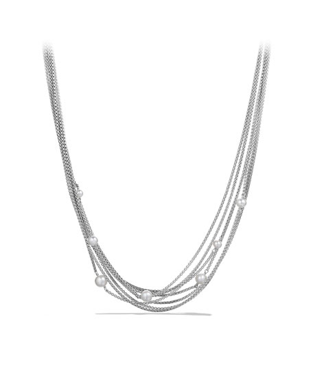 Eight-Row Chain Necklace, Pearl