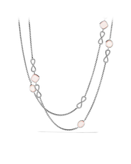 Confetti Figure-Eight Necklace with Rose Quartz