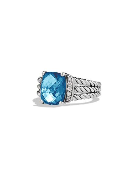 David Yurman Petite Wheaton Ring with Hampton Blue