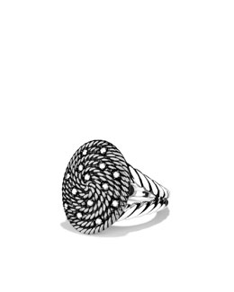 David Yurman Cable Coil Ring with Diamonds