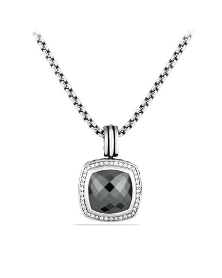 Albion Pendant with Hematine and Diamonds