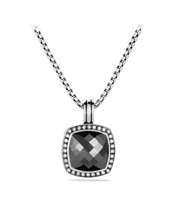 David Yurman Albion Pendant with Hematine and Diamonds