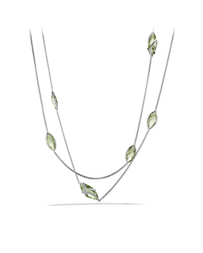 David Yurman Cable Wrap Necklace, Prasiolite