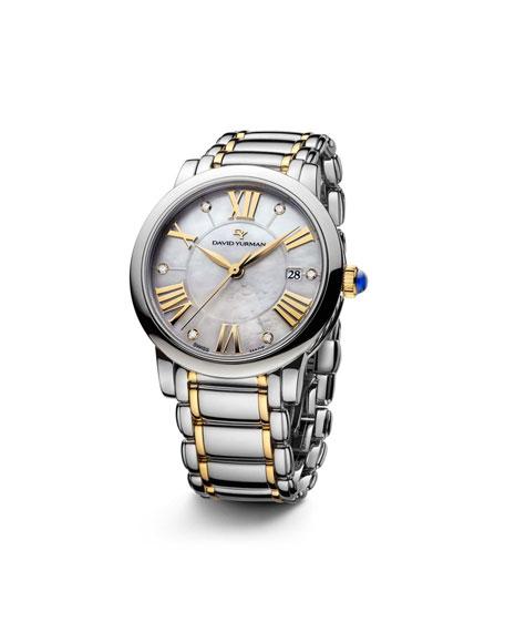 Classic 38mm Quartz Watch, Steel & 18K Gold