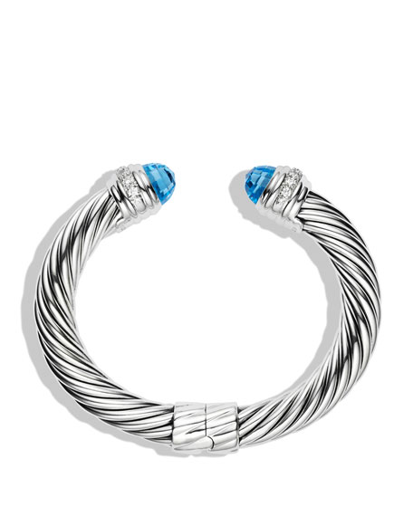 david yurman 10mm blue topaz cable bracelet