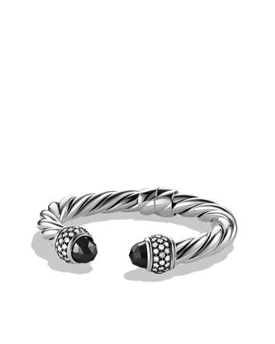 David Yurman Cable Classics Bracelet with Hematine and Diamonds