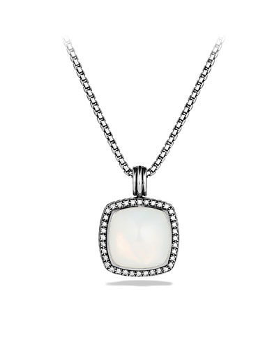 David Yurman Albion Pendant with Moon Quartz and Diamonds