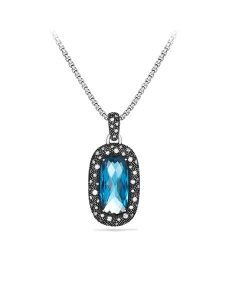 Midnight Mélange Pendant with Blue Topaz & Diamonds