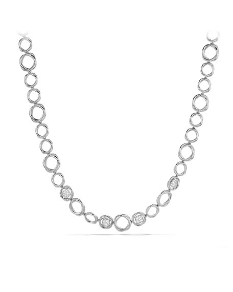 Infinity Link Necklace with Diamonds