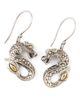 John Hardy Naga Drop Earrings, Small