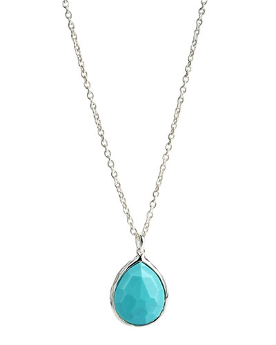 Rock Candy Pendant Necklace, Turquoise
