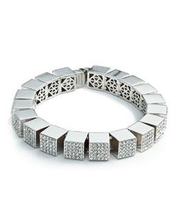 Eddie Borgo Pave Cube Bracelet, Silver