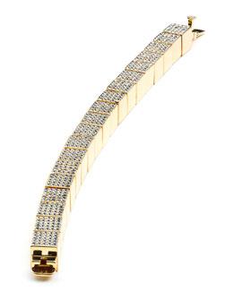 Eddie Borgo Pave Cube Bracelet, Yellow Gold