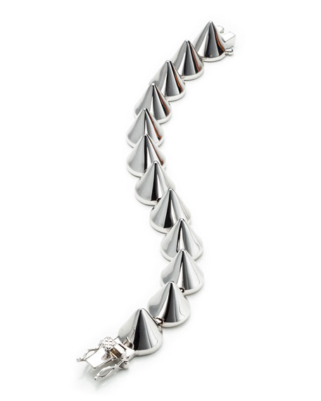Large Silver Cone Bracelet