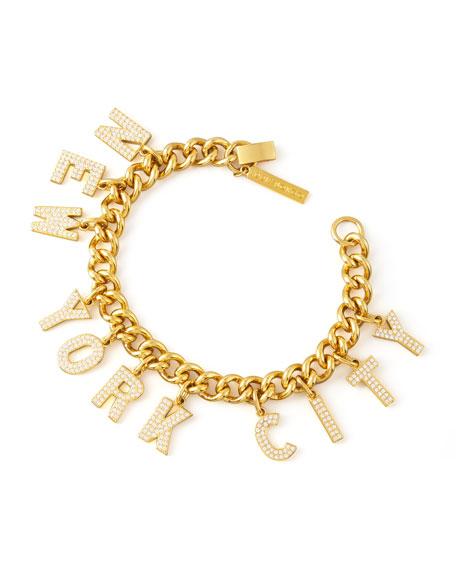 Pave New York City Charm Bracelet
