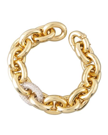 Pave-Link Chain Bracelet