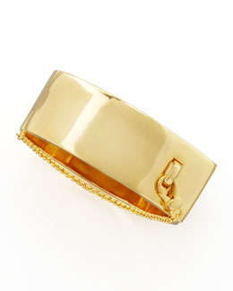 Eddie Borgo Safety Chain Cuff, Yellow Golden