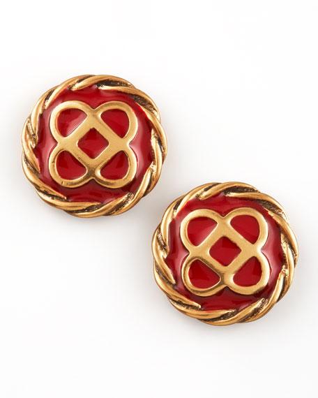 Mosaico Stud Earrings, Ruby