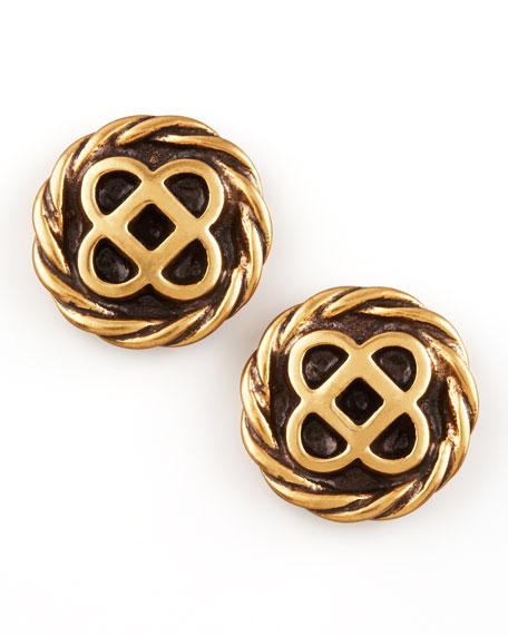 Mosaico Stud Earrings, Golden
