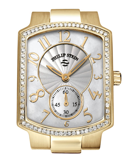 Small Classic Gold-Plated Diamond Watch Head