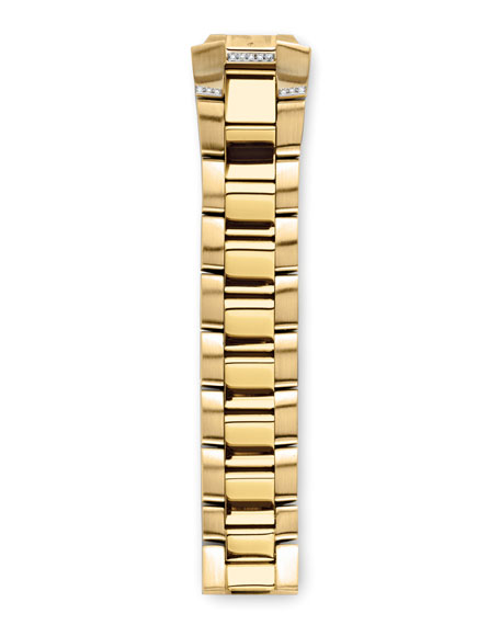 Gold-Plated Diamond Bracelet, 18mm