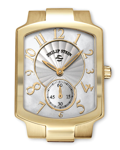 Small Classic Gold-Plated Watch Head