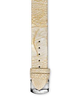 Philip Stein Golden Ostrich Strap, 18mm