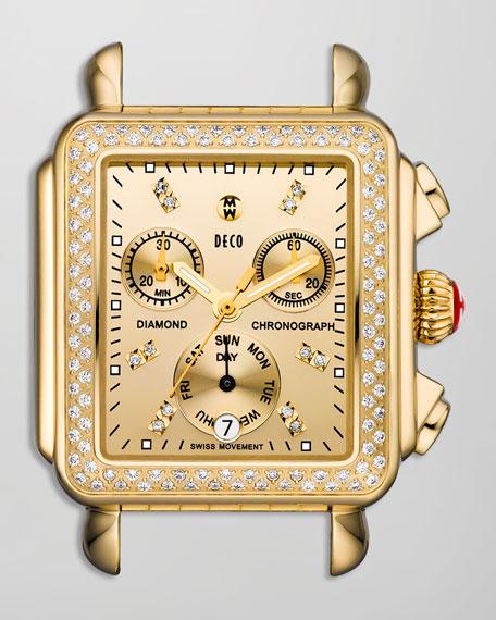Deco Day Diamond Watch Head, Yellow Gold