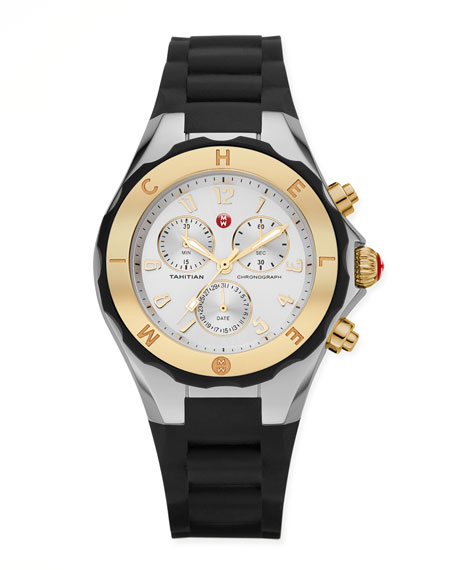 Tahitian Large Jelly Bean Two-Tone Chronograph, Yellow Golden/Black