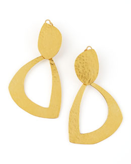 Herve Van Der Straeten Leaf Clip Earrings