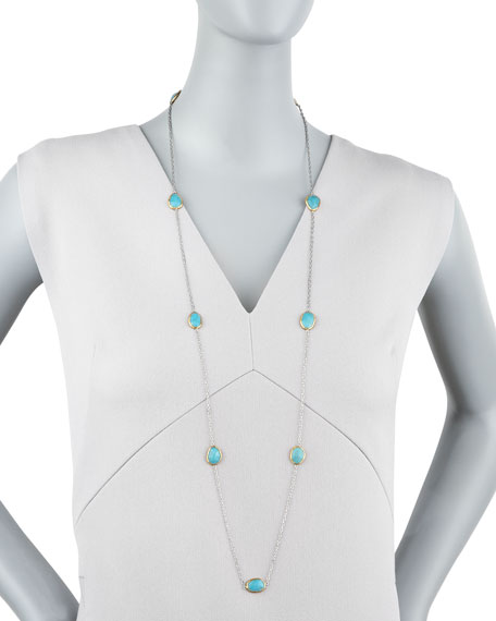 """Turquoise By-the-Yard Necklace, 40"""""""