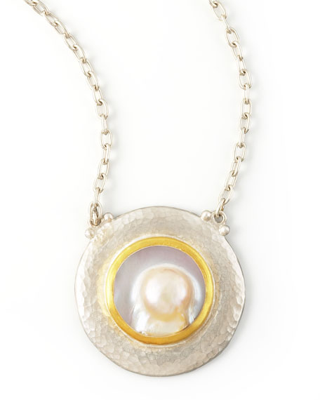 Island Pearl Pendant Necklace