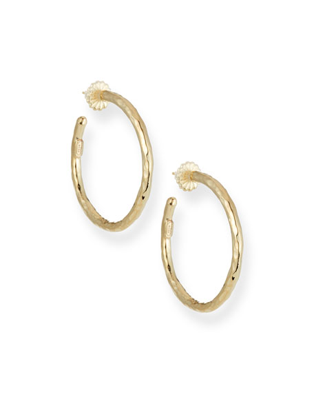 Ippolita Glamazon 18k Gold #3 Hoop Earrings