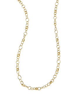 "Ippolita Glamazon 18k Gold Classic Link Long Chain Necklace, 33""L"