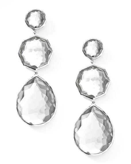 Clear Quartz Crazy-Eight Earrings