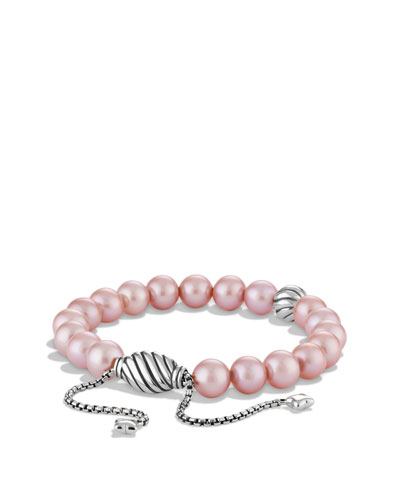 David Yurman Spiritual Beads Bracelet with Pink Pearls