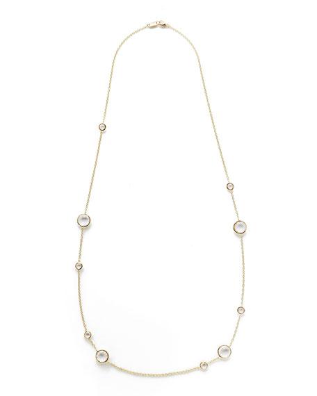 """Clear Quartz Lollipop Necklace, 36"""""""