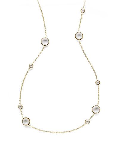 """Ippolita Clear Quartz Lollipop Necklace, 36"""""""