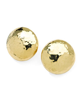 Ippolita Glamazon 18k Gold Mini Dot Clip Earrings