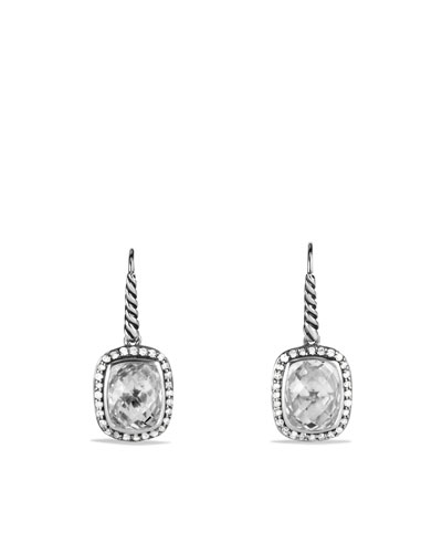 David Yurman Noblesse Drop Earrings with White Topaz and Diamonds