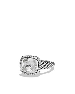 David Yurman Noblesse Ring with White Topaz and Diamonds