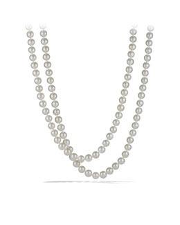 David Yurman Pearl Necklace with Diamonds