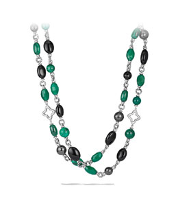 David Yurman Bead Necklace with Black Onyx and Green Onyx