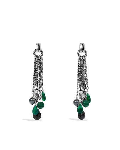 David Yurman Bead Tassel Earrings with Black Onyx and Hematine