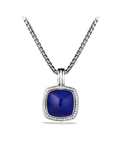 David Yurman Albion Pendant with Lapis Lazuli and Diamonds