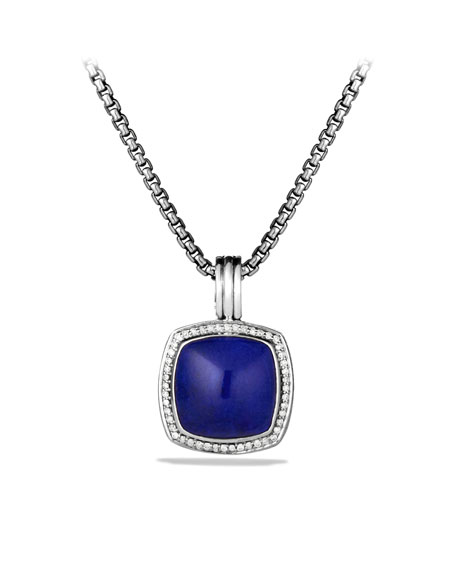 Albion Pendant with Lapis Lazuli and Diamonds
