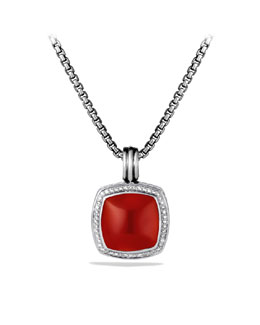 David Yurman Albion Pendant with Carnelian and Diamonds