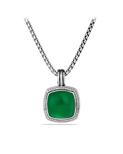 David Yurman Albion Pendant with Green Onyx and Diamonds