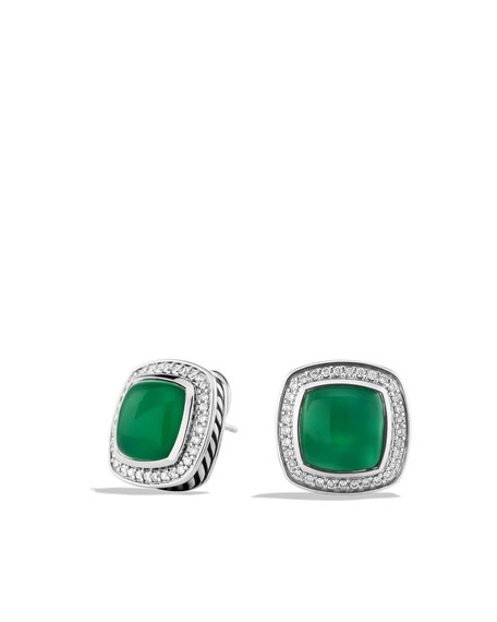 Albion Earrings with Green Onyx and Diamonds