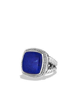 David Yurman Albion Ring with Lapis Lazuli and Diamonds